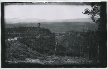 Looking westward towards Fifteen Mile Creek, east of Cumberland, MD.  (194 W81) included on back.