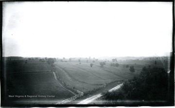 A view of Antietam, McClellan's headquarters from National Cemetery, 2nd view from tower; the photo taken on Friday at 5:35 pm; D.88.I.C.152.