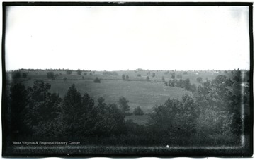 A view of Antietam, Sinken Creek from Benjamin Battery on Union side of Antietam Creek; the photo taken on Wednesday at 12:45 pm; 96.D.I.C.163.