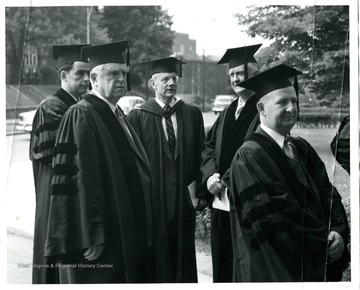 From left to right, Cecil Underwood, John L. Lewis and President Irvin Stewart.
