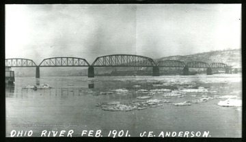 A view of the Ohio river in Winter.