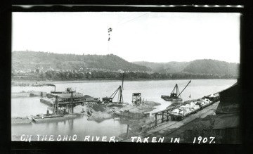 A view of work being done on Ohio River.
