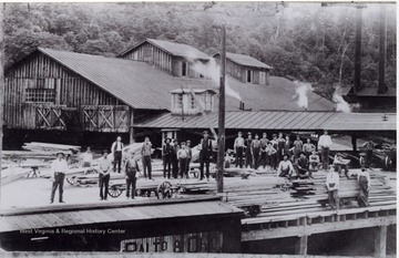Workers of Gauley Mills posed for a group portrait.