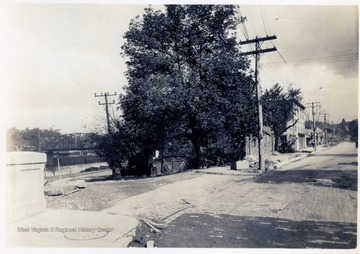 Looking N.W. - University Avenue and Garrett Street - Showing B.&O. and Hennen properties.
