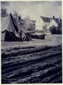 Red Cross tent. Sondersdorf, Germany.