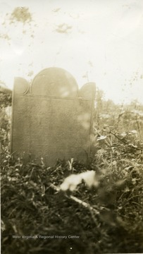 "Tombstone of early Irish Settler William Stewart. The Grave marker reads, ""Here These the Body of William Steward Deceased FEB THE 10 1811 AGED 84 Hark From the Tomb A Soleful Sound My Ears Atend The Cry Ye Living Men Come View The Ground Where You Must Shortly Lie."""