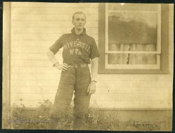 Unidentified student wearing a baseball uniform.