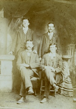 "Information included with photograph, ""Left to Right -Ira Summers, John A. Huffman, John A. Huffman was a brother of Francis Marion and Nelson N. Huffman."" Others persons are not identified."