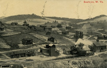 Bird's eye view of Scarboro, West Virginia. See original for correspondence. (From postcard collection legacy system.)