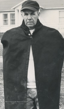 Portrait of the Alderson High School football coach. McLaughlin coached and taught at the school from 1936 to 1962.