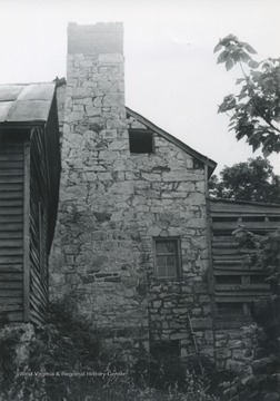 Exterior of the house pictured. The house was builtin 1815 in Muddy Creek, Greenbrier Valley.