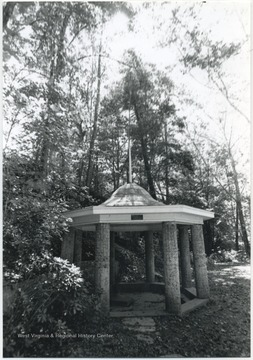 Photo of the renovated gazebo.