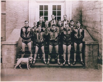 "Pictured in back row is ""Bun"" Goff and ""Buck"" Porterfield. Remaining subjects unidentified."