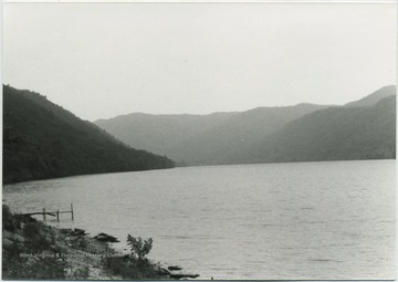 View from the shoreline of the Bluestone Reservoir, looking south from the campground.