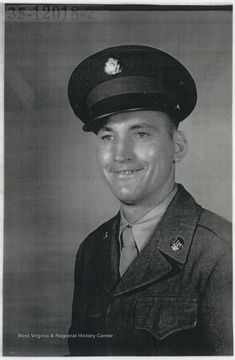 Portrait of Turner in WWII uniform.