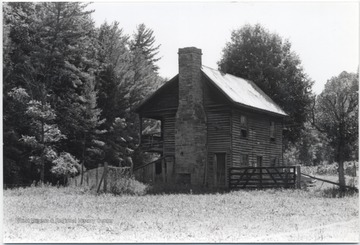 View of the home from across the field. The Hutchinson family was the earliest settler in Forest Hill District near the Greenbrier River.