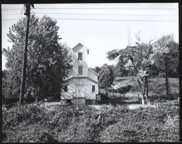 An unidentified church sits on a hill in Summers County.