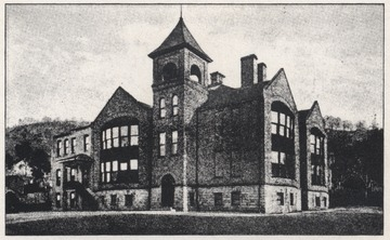 Drawn depiction of the old high school.