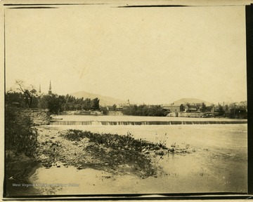 This image is part of the Thompson Family of Canaan Valley Collection. The Thompson family played a large role in the timber industry of Tucker County during the 1800s, and later prospered in the region as farmers, business owners, and prominent members of the Canaan Valley community.Scenic view of the Potomac River and Wills Creek in Cumberland, Maryland.