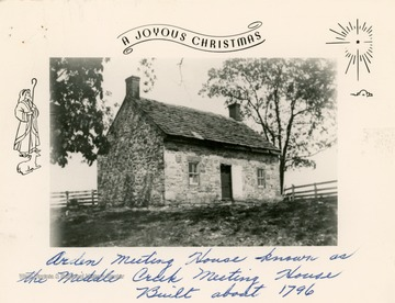 This Friends (or Quakers) church was built in approximately 1796