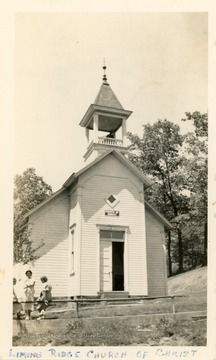 The church was organized in 1849.  The first two buildings burned down, and the present church was erected in 1895.
