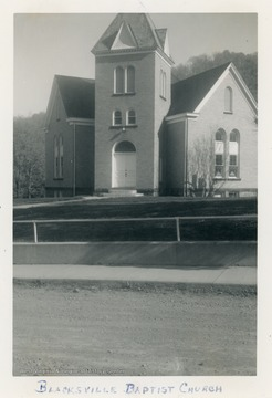 The church was organized in 1849.  The current building was erected in 1908.