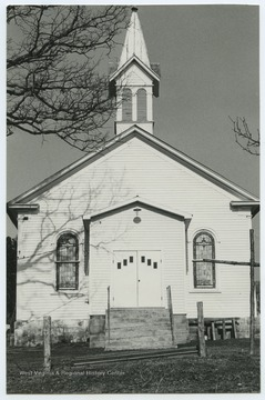 The church was established in 1850 and is located off of West Virginia Route 50.