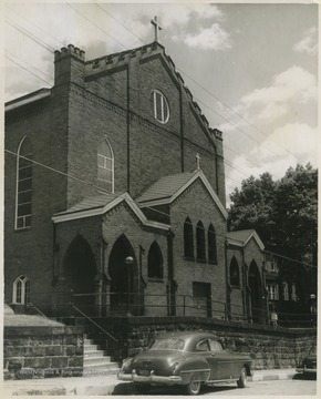 The church was established in the 1850's when Irish and German settlers came to the town of Grafton to build the Baltimore and Ohio Railroad (B. & O.).