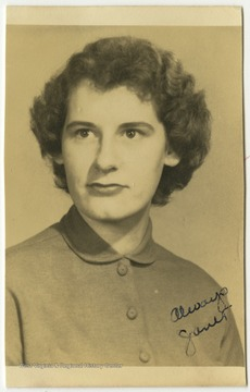 Terra Alta High School student Janet Nicklow poses for her school photo.