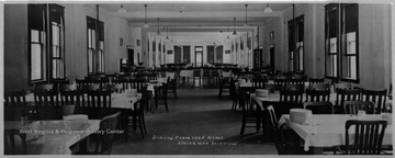 View of the Independent Order of Odd Fellows home dining room in Elkins, W. Va.