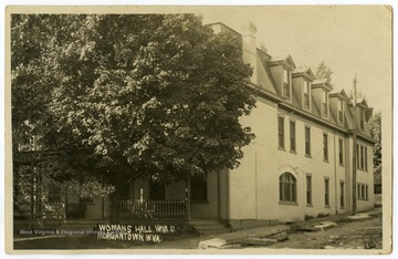 A view of Woman's Hall on the corner of Spruce and Willey Streets, Morgantown, W.Va., formerly known as Episcopal Hall.