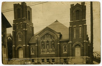 Now the Spruce Street United Methodist Church, the church stands on the corner of Spruce and Fayette Streets.