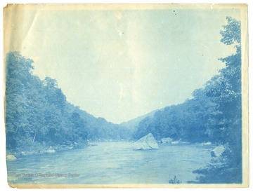 A view of Squirrel Rock, which was submerged when the Cheat Lake Dam was opened in 1926.
