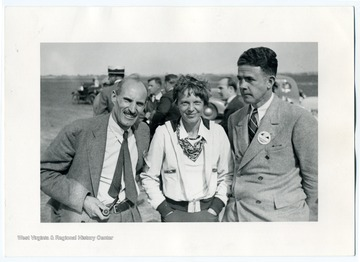 "Charles ""Casey"" Jones, Amelia Earhart, and Carl B. Allen at the National Air Races."