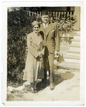 Louis is pictured with his wife, Ruth.  They married in 1920.